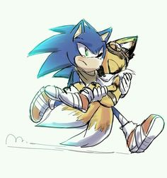 Probably from Boom episode one. Awww Tails scared Sonic really bad😢 Sonic The Hedgehog, Shadow The Hedgehog, Silver The Hedgehog, Sonic 3, Sonic Fan Art, Sonic Fan Characters, Video Game Characters, Fictional Characters, Sonic Franchise