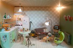 I would like to have that room. Orig. Pinner ->  Retro miniature kitchen