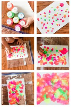 Does the idea of painting with your toddler sound terrifying? Then you'll love this beautiful no-mess smush painting project! Winter Activities For Toddlers, Summer Activities For Toddlers, Fun Fall Activities, Toddler Activities, Toddler Learning, Motor Activities, Easy Toddler Crafts, Toddler Art Projects, Crafts For Kids