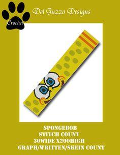 (4) Name: 'Crocheting : Spongebob Scarf Crochet Graph Pattern