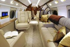 Welcome to luxury private jet, find information and pictures about luxury jets, jet interiors, aircraft rentals and private jet charters. Get best photos of luxury jets and private jet interiors. Luxury Jets, Luxury Private Jets, Private Plane, Interior Photo, Interior Design, Private Jet Interior, Luxury Helicopter, Private Flights, Boat Design