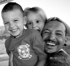 Chester with his kids.