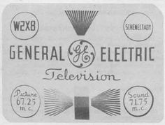 This is the test card for one of the earliest television stations, W2XB in Schenectady (later to become WGY and WRGB). This station started broadcasting in 1928.
