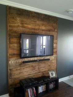 """Picture search results for """"barn wooden living room wall"""" - Home Page Basement Living Rooms, Accent Walls In Living Room, Living Room Tv, Home And Living, Wooden Accent Wall, Wood Wall, Wall Tv, Tv Wall Design, Wood Accents"""