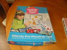 Wendy the Weather Girl Romper Room  I lost mine and still think about it. Weird !!!!