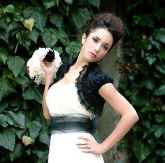 BEAUTIFUL LIFE dupioni silk bridal bolero jacket bridal shrug wedding shrug gothic bolero black bolero jacket victorian bolero. $75.00, via Etsy.