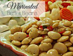 Marinated butter beans