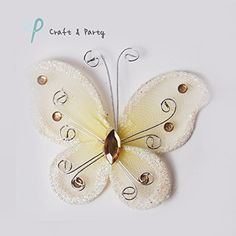 Set of 24 pcs ORGANZA BUTTERFLY Craft Wedding party decorations 3 IVORY *** Read more reviews of the product by visiting the link on the image.Note:It is affiliate link to Amazon.