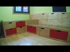El garaje de la madera: DIY. Dormitorio infantil, Cama con cajones. Children´s bedroom, Bed with drawers.