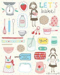 Flora Waycott let's bake art