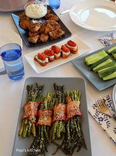 Appetizer Recipes, Appetizers, Cook At Home, Bruschetta, Ricotta, Asparagus, Buffet, Bacon, Food Ideas
