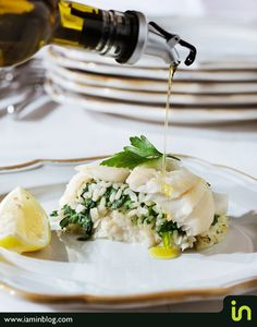 Fish stuffed with In Cuisin spinach risotto  Photo: Vadim Daniel