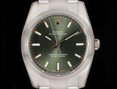 Rolex Unworn Oyster Perpetual Mid-Size Stainless Steel Olive Green Dial 114200 Rolex Oyster Perpetual, Oysters, Olive Green, Stainless Steel