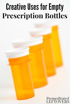 Do you end of up with a lot of empty medication bottles each month? Don't throw them away! Check out these 7 Creative Uses for Empty Prescription Bottles. DIY idea and easy life hack to organize small things for your family.
