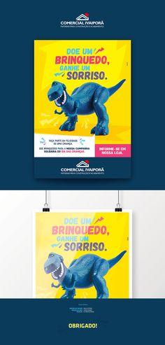 Dia das Crianças - Comercial Ivaiporã on Behance Web Design, Graphic Design, Behance, Posters, Social Media, Graphics, Ads Creative, Advertising, Shops
