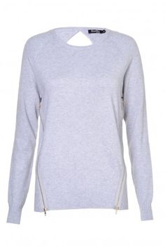 Trina Twin Zip Pullover in Grey Next Day, Knitwear, Twin, Valentines, Pullover, Park, Grey, Sweaters, Shopping
