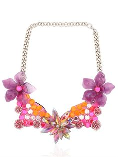 FLORAL WIRE FRAME NECKLACE