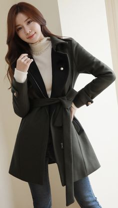 Korean Women`s Fashion Shopping Mall, Styleonme. Korean Fashion Winter, Winter Fashion Outfits, Blazers For Women, Suits For Women, Classy Outfits, Cool Outfits, Long Sleeve Evening Dresses, Fashion Design Sketches, Professional Outfits