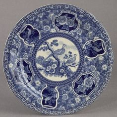 """Dinner Plate Blue Antique French Toile Pheasant Design Bird Chintz . $21.00. Dishwasher and Microwave Safe. Gift Wrapping Available at Checkout. 10"""" in Diameter. Boxed for Easy Gift Giving. Antique French Toile Pheasant Design. This lovely plate just feels right in your hand, the quality can be felt just as easily as it can be seen. It features a vintage French Toile design, bucolic farm scenes are shown in the center and in the cameos on the basket weave border. This ..."""