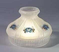 Choose from our splendid hand painted vintage glass lamp shades to find a perfect replacement to restore your fine old heirloom lamp or fixture Antique Lamps, Lamp Shades, Cobalt, Restoration, Hobbies, Roses, Hand Painted, Antiques, Glass