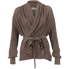 Soaked in Luxury Cardigan Magda ($88) ❤ liked on Polyvore featuring tops, cardigans, sweaters, jackets, outerwear, women, soaked in luxury, brown cardigan and brown tops
