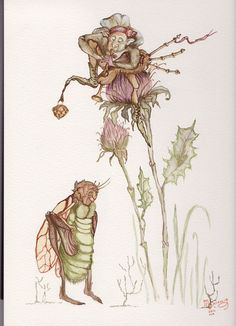 Original Watercolor Illustration for Scottish Fairy Tales from artist Marina Sciascia (USA)