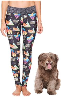 Puppies Make Me Happy - Puppies Fitness Leggings Women's Casual Pants #affiliate