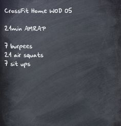 CrossFit home WOD - @Kelly Teske Goldsworthy Teske Goldsworthy Dooner this would be a good way to  get our squats done