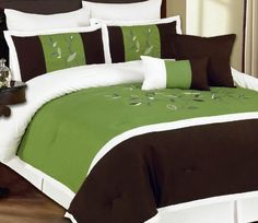 RT Designers Collection Veranda 8-Piece Comforter Set, King, Green RT Designers Collection http://www.amazon.com/dp/B00B7084LY/ref=cm_sw_r_pi_dp_cLwpub0TQ43YV