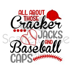 All about those Cracker Jacks and Baseball Caps Summer SVG cut file for silhouette cameo and cricut by ScarlettRoseCuts on Etsy