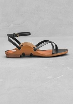 And Other Stories | Leather Sandals | Black