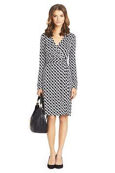 New Jeanne Two Silk Jersey Wrap Dress In Chain Link Medium size 12