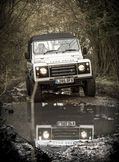 Our White 'Storm Trooper' 1994 Land Rover Defender 110 - 300 TDI - canvas rear…