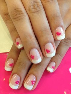 Nails Design Frances French Manicures Ideas 17 Ideas For 2019 Gel French Manicure, French Nails, Manicure And Pedicure, French Manicures, Pedicures, Polka Dot Nails, Pink Nails, Cute Nails, Pretty Nails