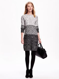 Women's Marbled Cable-Knit Dress