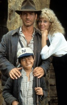 Indiana Jones (Harrison Ford), Willie Scott (Kate Capshaw), & Short Round Short Round (Ke Huy Quan / Jonathan Ke Quan) - Indiana Jones and the Temple of Doom Henry Jones Jr, Harrison Ford Indiana Jones, Indiana Jones Films, Love Movie, I Movie, Movie Stars, 80s Movies, Indie Movies, Anos 80