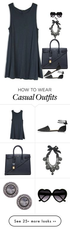 """Casual But Chic"" by miki006 on Polyvore featuring Ranjana Khan, Yves Saint Laurent and Topshop"