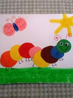 Easy Spring Caterpillar Craft