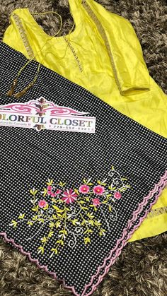 Embroidery Suits Punjabi, Hand Embroidery Dress, Embroidery Suits Design, Embroidery Motifs, Flower Embroidery Designs, Embroidered Clothes, Embroidery Fashion, Ladies Trouser Suits, Punjabi Suits Party Wear