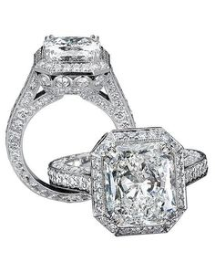 Jack Kelege engagement ring in platinum and radiant cut I Style: KPR 375-2 I https://www.theknot.com/fashion/kpr-375-2-jack-kelege-engagement-ring?utm_source=pinterest.com&utm_medium=social&utm_content=june2016&utm_campaign=beauty-fashion&utm_simplereach=?sr_share=pinterest