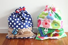 Drawstring Toy Bag / Sack with window - Toy storage for girls & boys