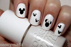 Minnie Mouse Nail Art Transfer Decal Wraps van Shockitude op Etsy