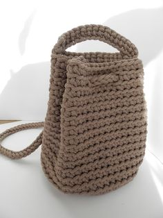 Unique crochet handbag/knit bag/ crocheted rope bag/fashion/woman accessories/knitted totes/handmade bag/winter bag