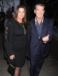 Pierce Brosnan with his wife Keely Shaye Smith at the premiere of his latest movie Love Is All You Need in NYC on Wednesday April 24, 2013.