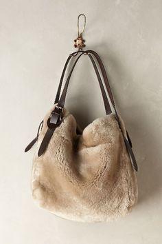 Shearling Hobo Bag - comfy