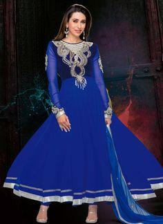 #Blue #KarishmaKapoor Ankle Length #Anarkali #Suit