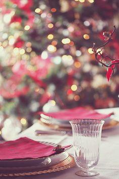pink christmas tablescape #DearTopShop