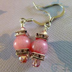 Pink Earrings by MangoTease