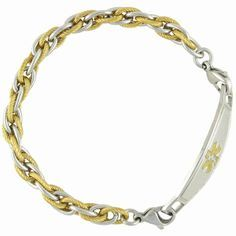 medical alert jewelry for women | Pegasus Chain Medical Alert Bracelets w/Contempo ID | N-Style ID