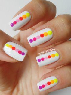 www.facebook.com/marce7ina #nails #nailart #nailpolish #dots